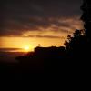 Posta de sol al Castell de Taradell