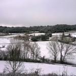 La nevada enfarina els carrers de Taradell