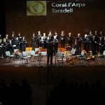 La Coral L'Arpa de Taradell ofereix el concert de Nadal amb pràcticament un ple a can Costa