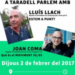 Ajornada la xerrada de Lluís Llach i Joan Coma a Taradell d'aquest dijous