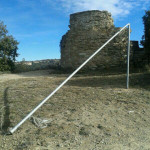 Roben l'estelada que onejava al Castell d'en Boix de Taradell