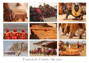 Postal feta per la Laura del festival de Quissico i que comercialitza (s'hi poden veure les vistes i la timbila)