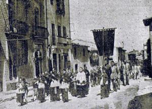 Processó celebrada el 26 d'agost de 1951 per la pluja