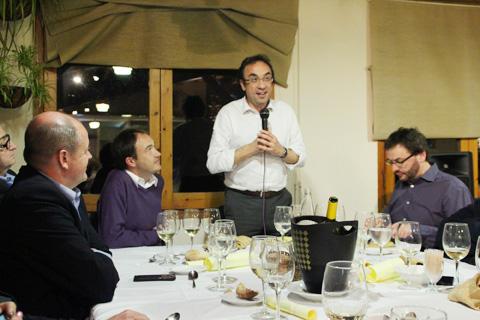 Josep Rull en una trobada a Taradell