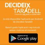 ERC Taradell posa a l'abast una aplicació per mòbils de la campanya Decideix Taradell