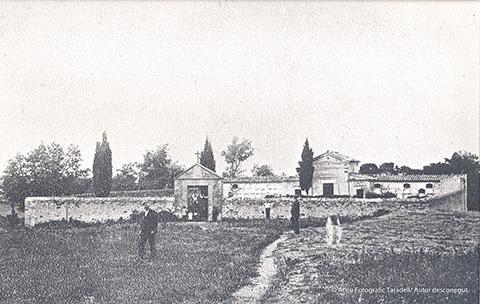 Imatge de 1918 del cementiri