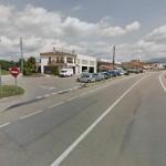 Espectacular accident entre un turisme i una moto a Taradell