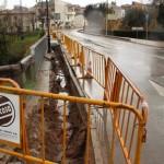 Obres al pont de la Font Gran per millorar la xarxa d'aigües de la Roca i el Vapor
