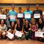 Es lliuren els diplomes als joves participants al curs de premonitors de Taradell