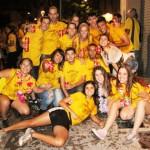 El groc tenyeix els carrers de Taradell amb el Birracrucis 2015