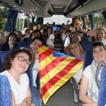 Centenars de taradellencs fan la Via Lliure a la Meridiana de Barcelona
