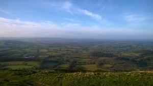 Vistes de Worcestershire des de Malverns Hills