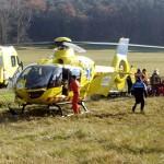 Un jove de Tona ha de ser evacuat en helicòpter en un accident a Taradell