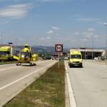 Una persona evacuada en helicòpter després d'un accident a la gasolinera de Taradell