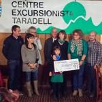 El Centre Excursionista Taradell dóna 1.500 euros a la campanya Arnau 97