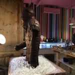 El Xocolater de Taradell reprodueix en xocolata i a mida real un guerrer xinès de terracota