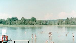 Llac Katzensee just al costat de Zürich al setembre.