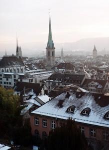 La ciutat de Zürich des del mirador de la Universitat