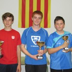 El jugador del TT Mont-rodon, Jaume Cunill, guanya el campionat individual B intercomarcal de tennis taula