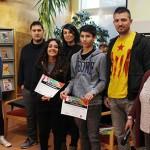 Genís Mora i Lorena Prat guanyen el 1r Concurs d'art jove de Taradell