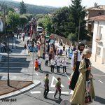 Trobada de gegants amb la celebració dels 40 anys d'en Guillem de Montrodon i la Tiburgeta