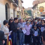 Concentració a Taradell per demanar llibertat als empresonats Jordi Cuixart i Jordi Sánchez