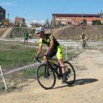 Marc Clapés i Enric Bau, primer i segon en Màster 30, en la prova de la Copa catalana de ciclocròs a Osca