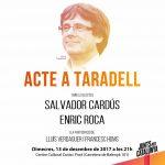 Junts per Catalunya fa un acte de campanya electoral a Taradell aquest dimecres