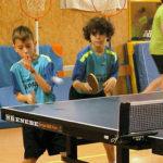 Taradell va acollir la segona jornada de lliga escolar per equips de tennis taula