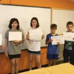L'alumna de l'Escola el Gurri Júlia Sáez obté un dels primers llocs a la 23a edició de les Proves Cangur