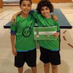Gran actuació d'Unai Luque i Arnau Sánchez en tennis taula a Arbúcies