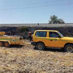 Tres petits focus d'incendi afecten camps al barri de Mont-rodon de Taradell