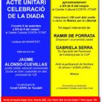 Sopar groc i acte amb familiars de presos i exiliats polítics a Taradell aquest dissabte
