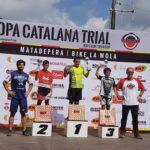 Ferran Serra acaba subcampió de la Copa catalana de trial en categoria aleví