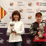 Aleix Costa i Josep Codina reben els premis pel seu podi al campionat Open Racc de kàrting 2018