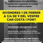 SUSPÈS: L'ANC Taradell i ERC Taradell presenten divendres un acte en format audiovisual per denunciar la justícia espanyola