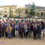 Una setantena de taradellenques participena a la marxa lila del Dia internacional de les dones