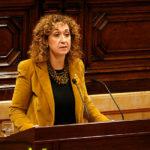 La Consellera de Justíca, Ester Capella, aquest diumenge a Taradell en l'acte electoral d'ERC per les eleccions del 28 d'abril