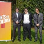 El candidat de Junts per Taradell, Santi Estragués, es reuneix amb el president Carles Puigdemont a Waterloo