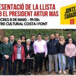 Junts per Taradell presenta la candidatura a les eleccions municipals aquest dimecres amb la presència d'Artur Mas