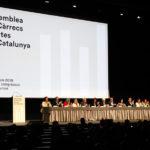 L'alcaldessa i regidors d'ERC i de Junts per Taradell a l'acte de constitució de l'Assemblea de Càrrecs Electes