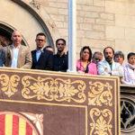 L'alcaldessa de Taradell, Mercè Cabanas, participa a l'acte unitari del món local al Palau de la Generalitat contra la sentència condemnatòria del TS