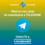 L'Ajuntament de Taradell obre un canal de telegram per informar sobre el Coronavirus