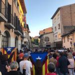Concentració de protesta a Taradell contra la inhabilitació del Suprem al President de la Generalitat Quim Torra