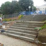 Es rehabiliten les escales d'accés al pavelló El Pujoló