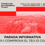 El Consell Local per la República de Taradell tindrà una parada aquest dissabte per informar sobre l'ID Ciutadà