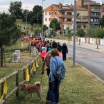 Més de 200 persones participen a la Caminada de lluna plena, que no va poder tenir concert