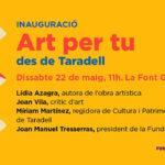 Dissabte acte divulgatiu d'art contemporani amb Lídia Azagra a la Font Gran