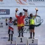 El taradellenc David López puja al podi en categoria promesa a la Copa Espanya de trial celebrada a Navarra