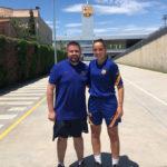 Dos taradellencs entrenen un dels equips femenins base del FC Barcelona